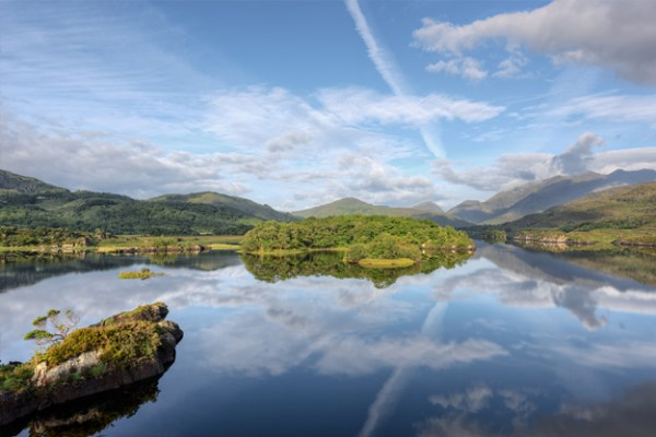 The lakes of Killarney in Ireland.