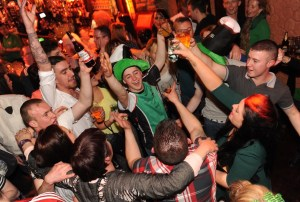 A crowd scene enjoying the Paddy's Day Party that featured a live gig by The Kilkennys band in The Killarney Grand on Tuesday . Picture: Eamonn Keogh (macmonagle.com)