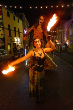 The colour of the Biddy parade on the streets of Killorglin