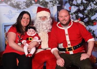 Adah, Niamh and John O'Brien with Santa