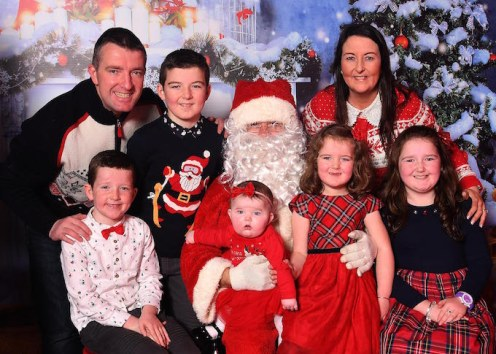 David, Kaylee, Alan, Melissa and Emily O'Leary with parents Maeve and Aeneas O'Leary, Rathmore