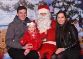 Shane and Sophie Brosnan and Anne Marie Murphy meet Santa