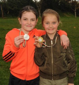 Emily O'Shea and Kate Fleming with their medals