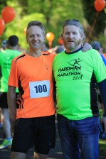 Thomas Bubenorfer from Killorglin who competed in his 100th marathon with Hardman Director Alan Ryan