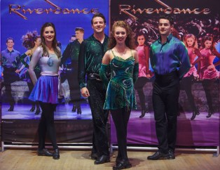 Riverdance stars at the launch of this year's entertainment spectacular at the Gleneagle Hotel and INEC