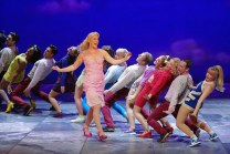 A scene from the opening night of the West End and Broadway production