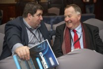 Discussing the business of the day at the conference were Killarney Chamber of Tourism and Commerce President Paul Sherry (right) and Vice President Cllr Niall Kelleher