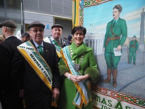 Jimmy O'Connor from Kenmare with Mayor Norma Foley