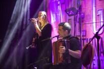 Irish traditional folk band Altan's Mairéad Ní Mhaonaigh and Dr Martin Tourish performing