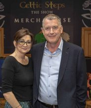 Aine O'Donoghue and show producer David Rea