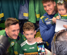 Brian Kelly and Dara Moynihan meeting young supporters