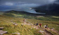 Shower on the way: Athletes competing in the 2019 Dingle Adventure Race on Mount Brandon