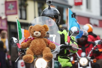 Teddy Time: Liam Kelly brings the soft toy for a spin