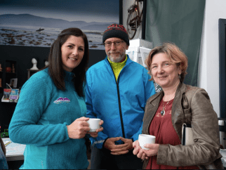 Catherine Kelly, Kerry Climbing, Philip Shaw, Reeks District Secretary and Susan Clifford, GoVisit Ireland