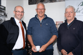 Fergus Clifford, Killorglin Chamber Alliance, Donal Dowd, Cappanalea Outdoor Education and Training Centre and Tim Moroney, Killorglin Chamber Alliance