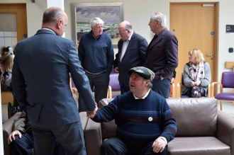 """Donal O""""Shea from Tuosist welcomes Minister Daly to officially open the Fiachne Day Centre at Kenmare Community Hospital"""