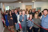 Minister Daly cutting the tape to officially open Tomies Day Centre at The Reeks, Killarney on Tuesday. Also in photo are, Brid Collins, Clinical Nurse Manager, Dr Ana Goles, Juliette Brosnan, Acting Assistant Director of Nursing, Kevin Morrisson, General Manager, Mental Health Services, HSE, Mary O'Mahony, Area Director of Nursing HSE, Dr Dara Phelan, Executive Clinical Director and invited guests. Photo: Don MacMonagle repro free from HSE