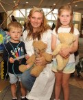 Maria Fleming with children Alexander and Olivia Sheridan at the Teddy Bears Hospital