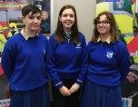 Jayden Kelliher Sarah McGrath and Saorise Bartlett from St Brigid's Secondary School, Killarney