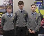 Darragh Buckley, Adam Kelly and Nils Ahrensneier from Castleisland