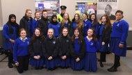 Garda Peter McCarthy and students from St Brigid's Secondary School, Killarney