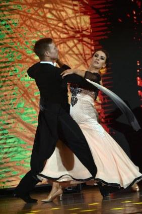 Reigning DWTS championsMairead Farrelland her pro-dance partner John Nolan pictured dancing their waltz