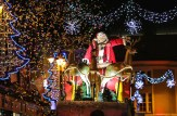 Once again Santa Claus and his reindeer made a dramatic entrance