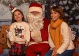 Grace Hayes and Ailish Kelly met Santa