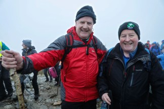 Kieran Cogan (lleft) with Paul Sherry, President of Killarney Chamber of Tourism and Commerce, on the Paps of Anú