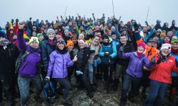 Sacred summit: The participants rejoice at the summit