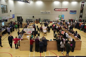 All eyes on the ballot papers at the Killarney Sports and Leisure Centre