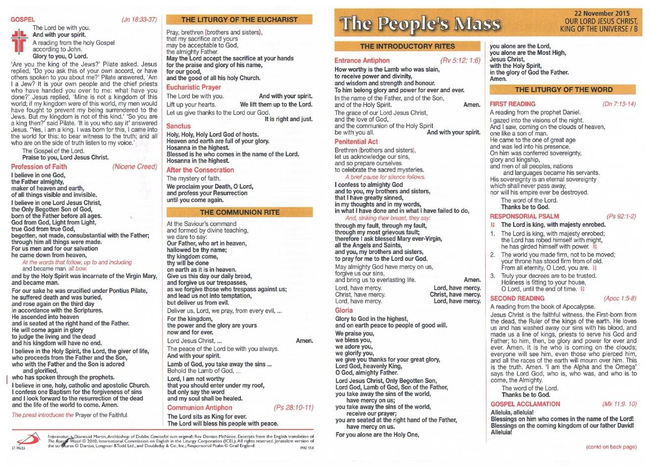 Killenaule and Moyglass Parish Newsletter 22nd November 2015