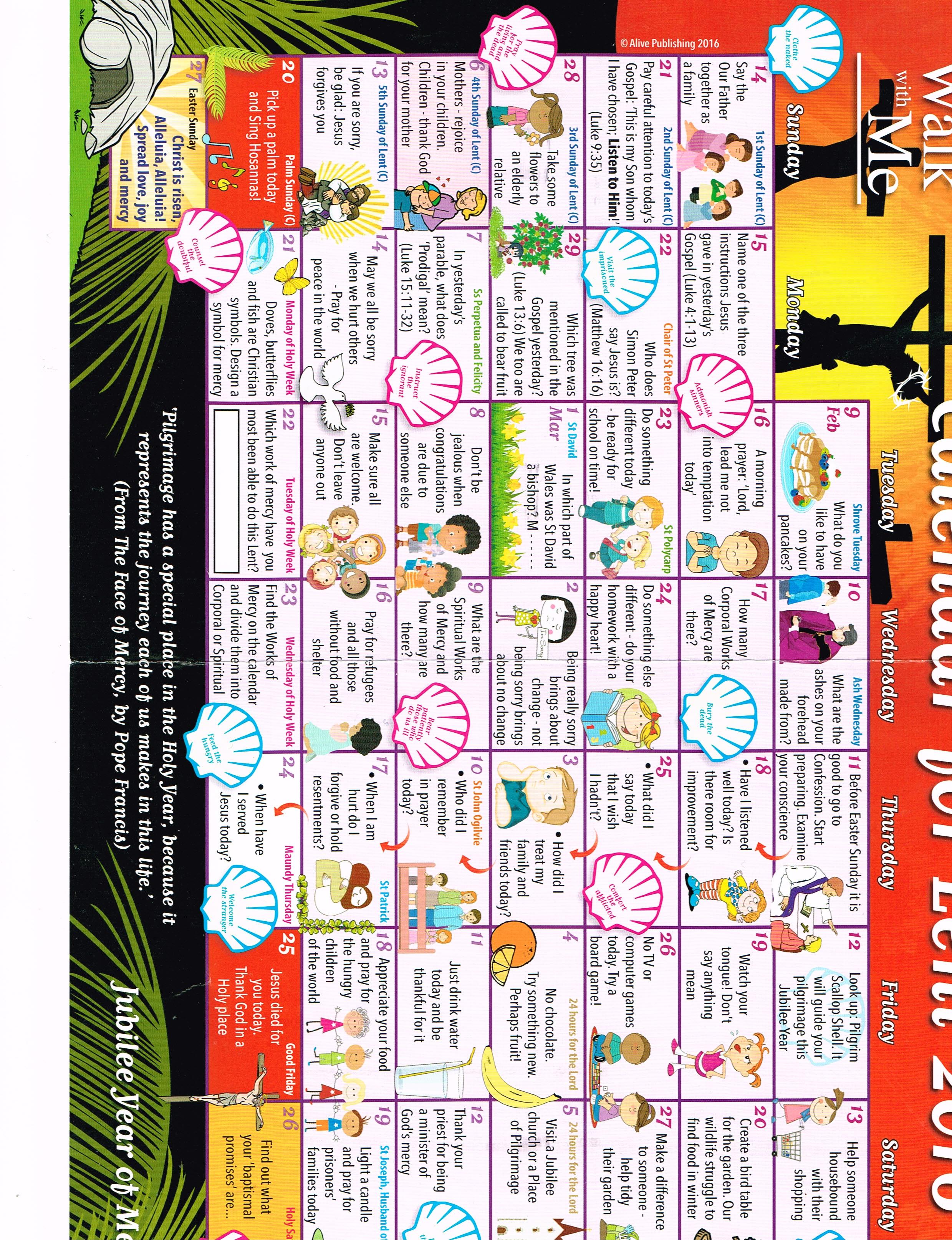Calendar for lent 2016 killenaule calender biocorpaavc