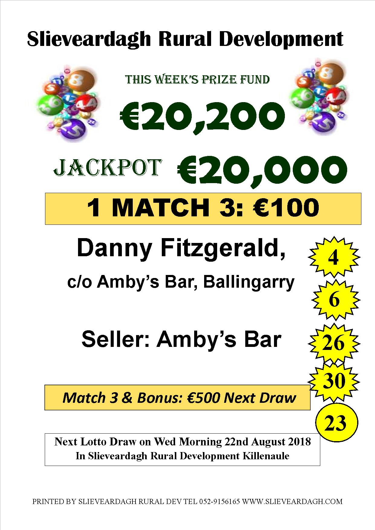 Slieveardagh Rural Development Lotto - Killenaule net