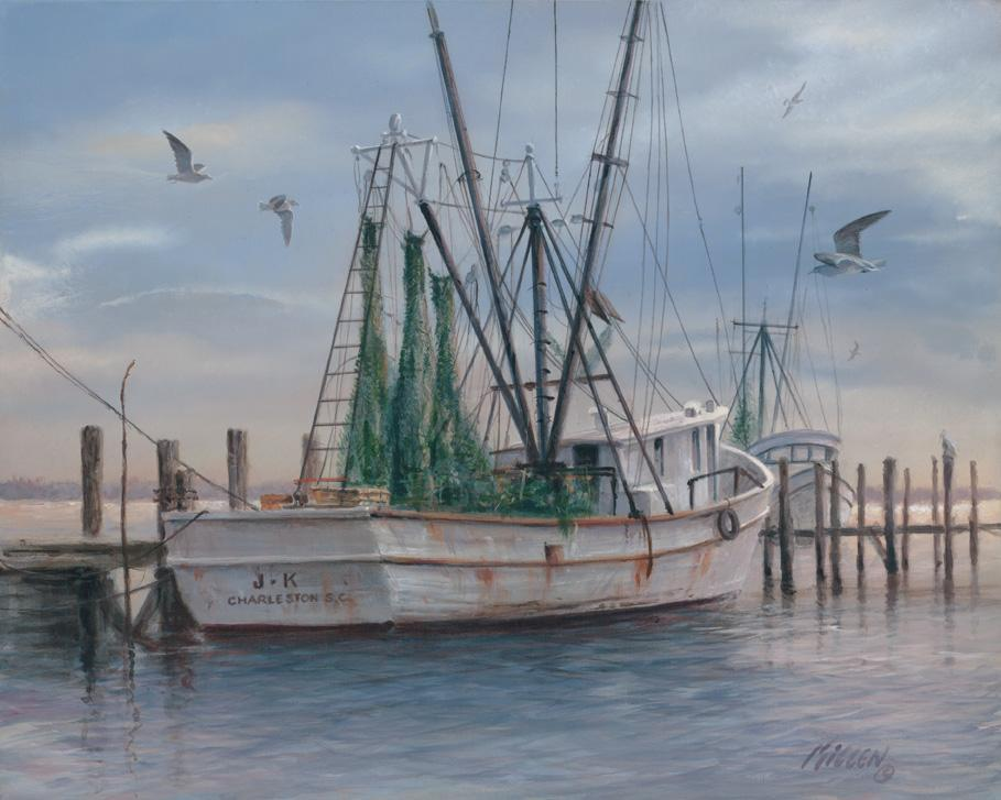 """Shrimpers"" Painting by Jim Killen"