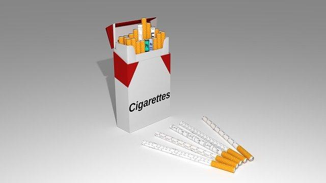 cigarette box look