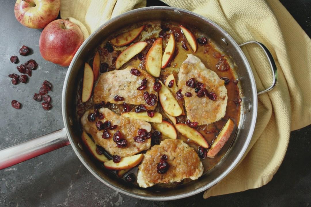 Apple Cranberry Pork Chops