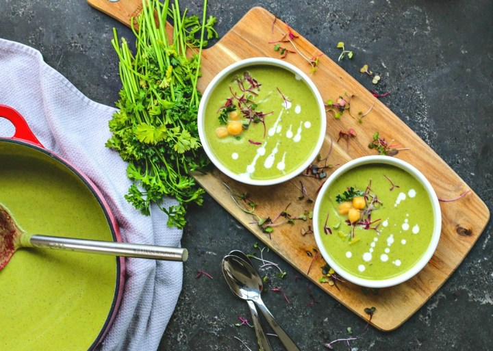 Creamy Dill and Spinach Chickpea Soup | Killing Thyme