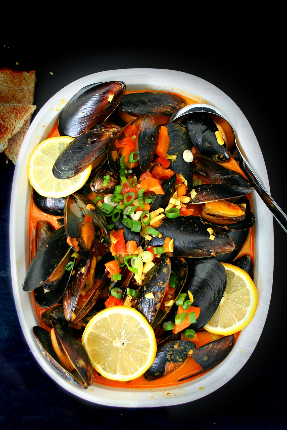 Mussels in Harissa Spiced Coconut Milk 03