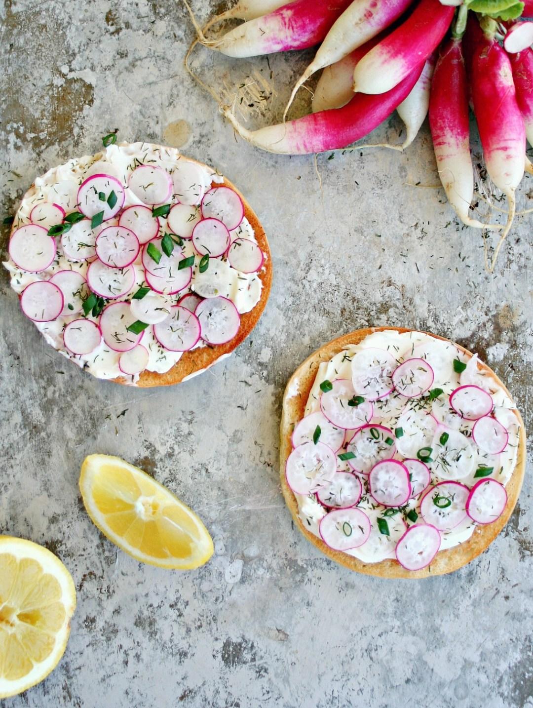 French Breakfast Radishes on toast 7