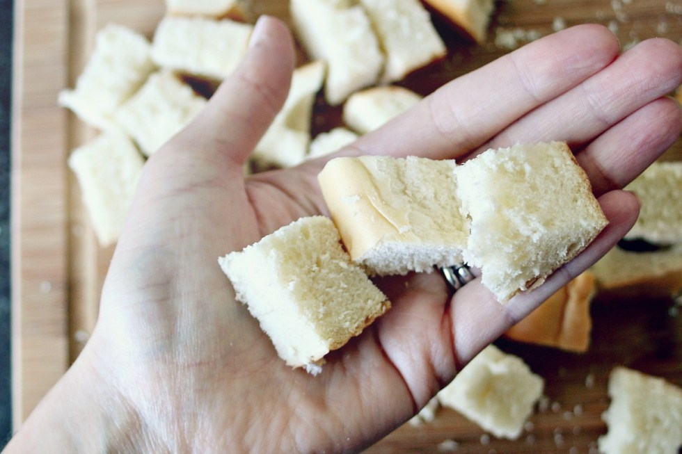Homemade Croutons Size