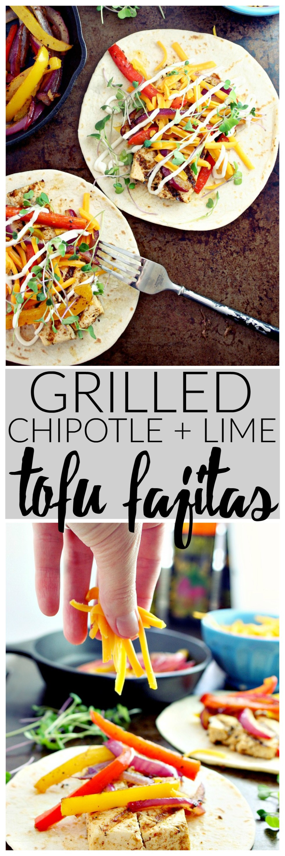 Grilled Chipotle and Lime Tofu Fajitas | Killing Thyme