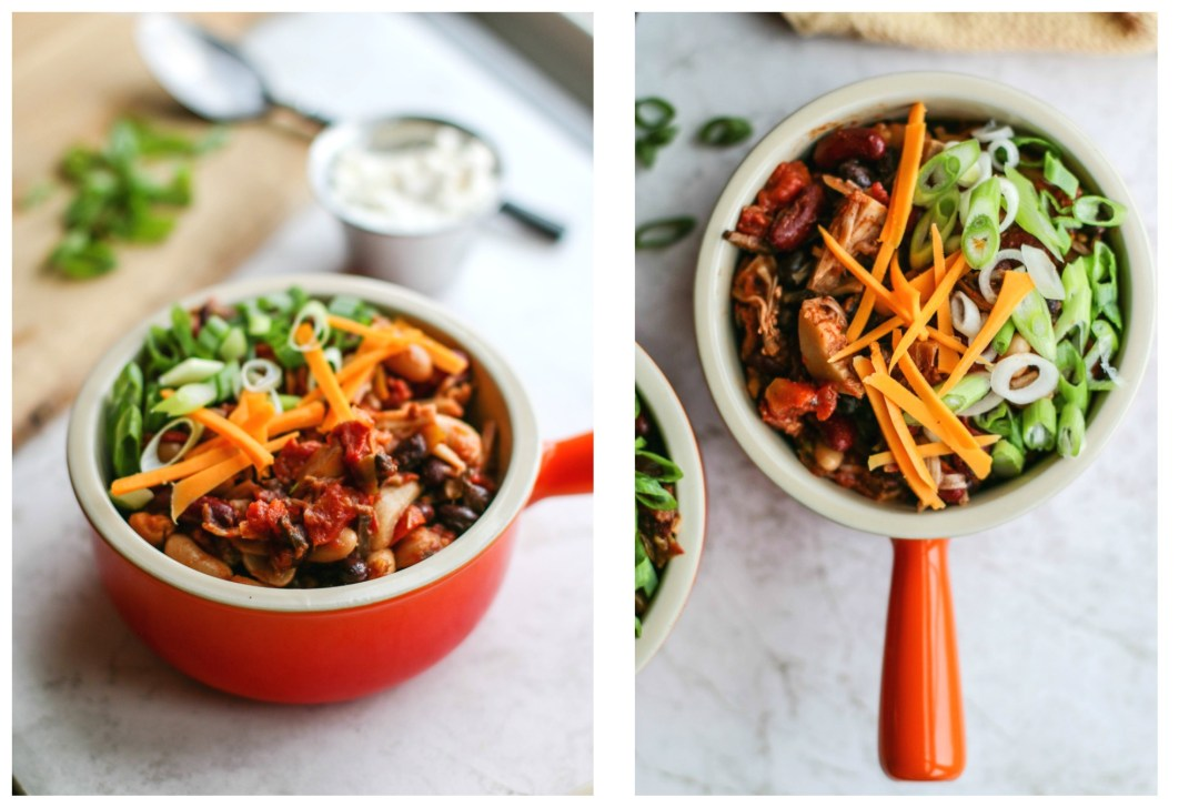 Smokey Slow Cooker Pulled Jackfruit Chili | Killing Thyme