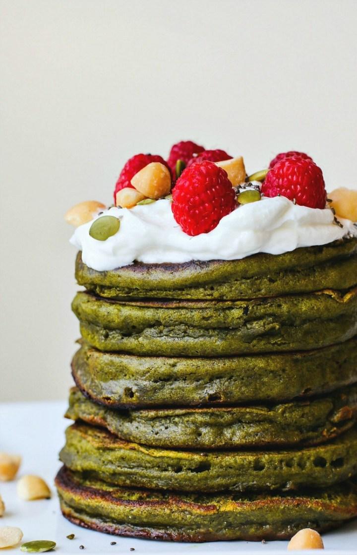 Matcha Green Tea Pancakes   Killing Thyme