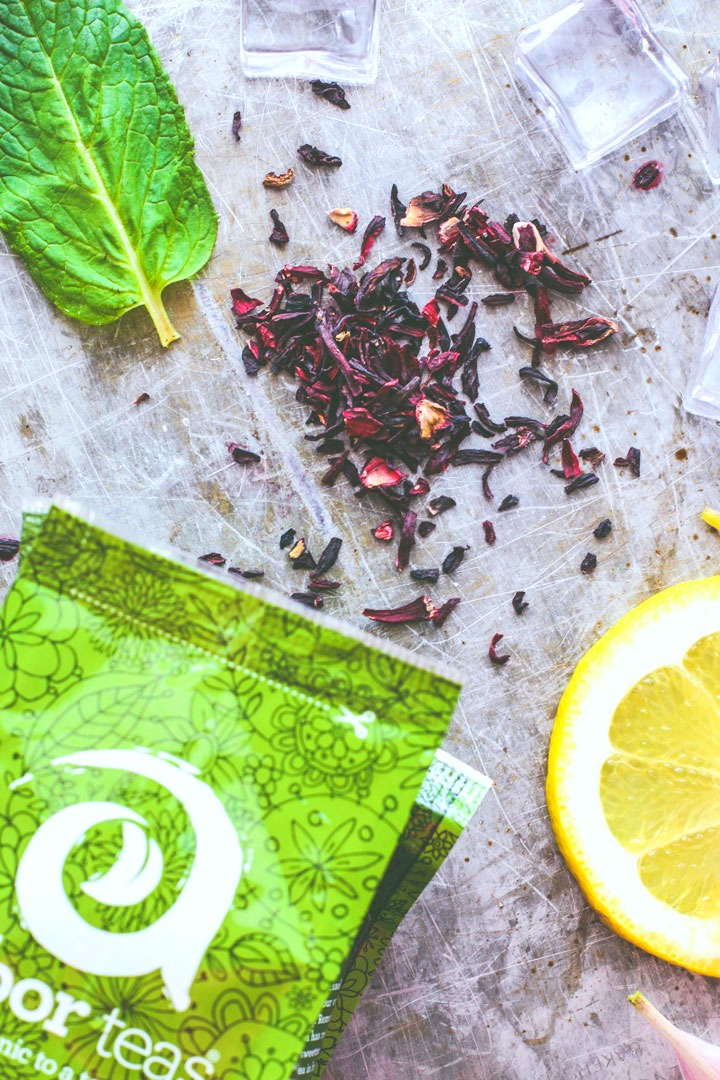 Spiked Hibiscus Iced Tea | Killing Thyme