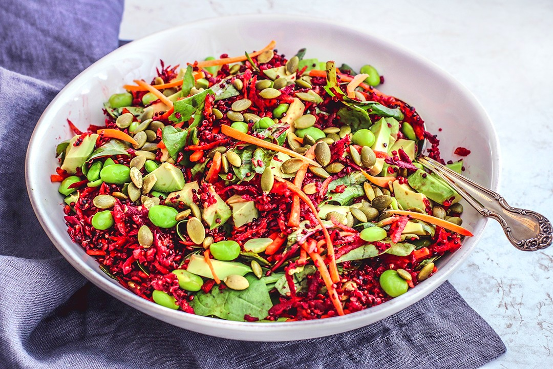 Bright Beet Salad With Quinoa + Toasted Pepitas | Killing Thyme