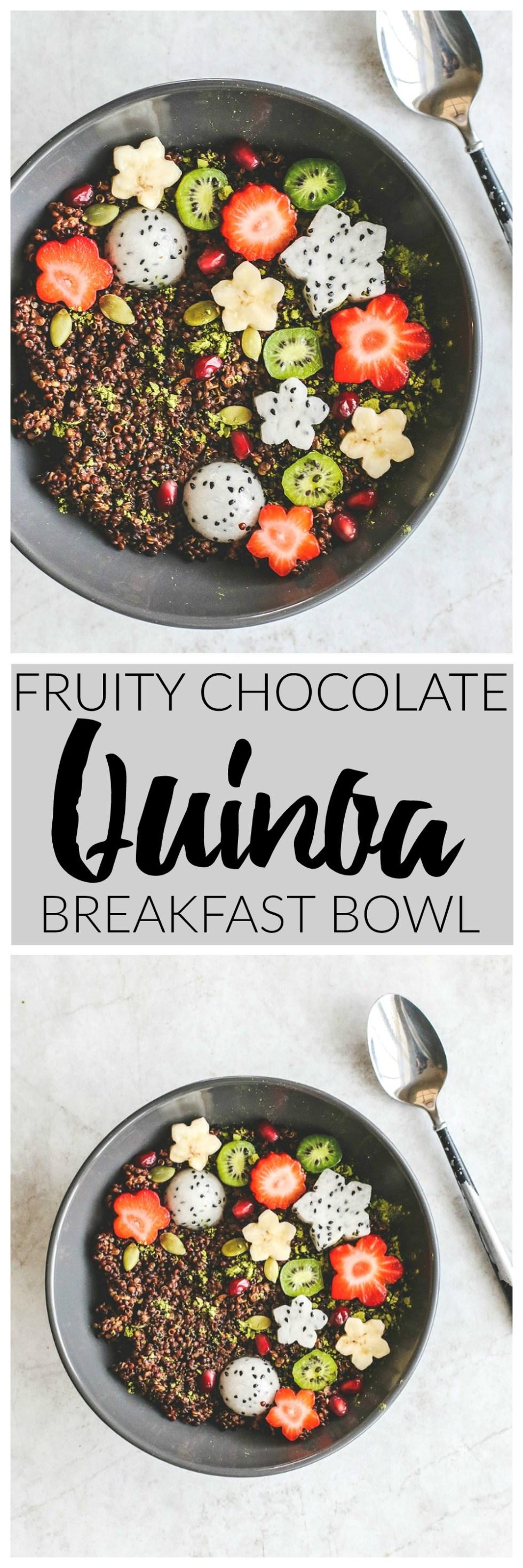 Fruity Chocolate Quinoa Breakfast Bowl | Killing Thyme