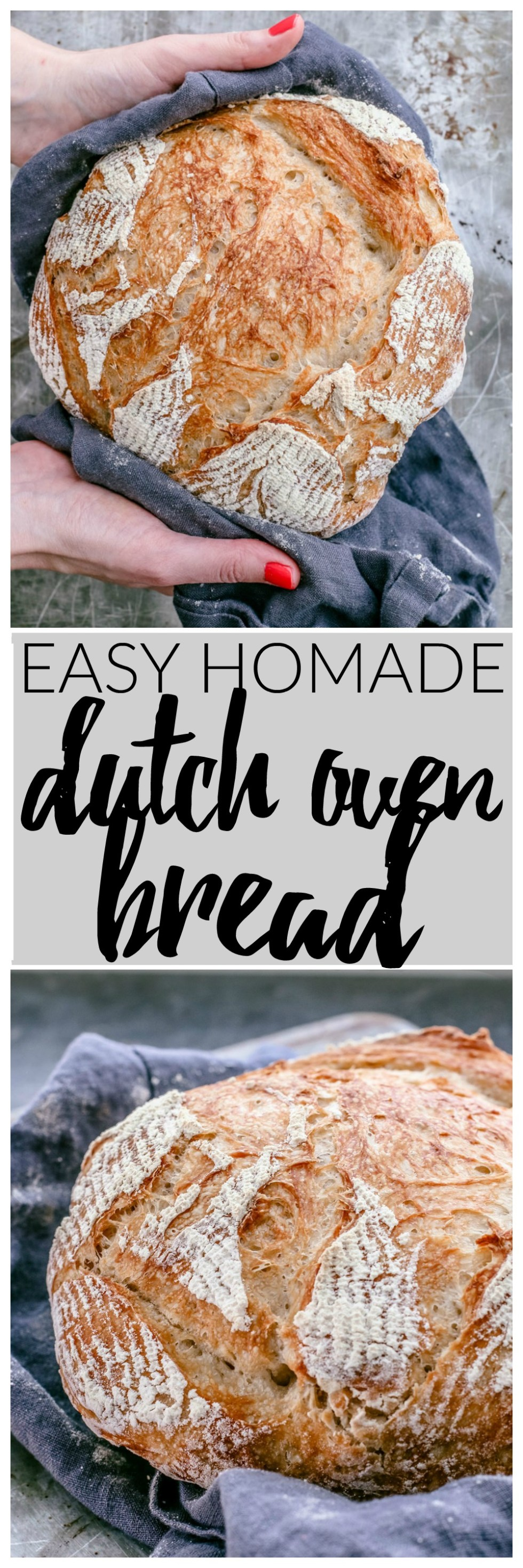 Easy Homemade Dutch Oven Bread | Killing Thyme — You'll get a gorgeous crackly golden brown crust encasing soft and pillowy bread every time.