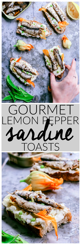 Gourmet Lemon Pepper Sardine Toasts   Killing Thyme