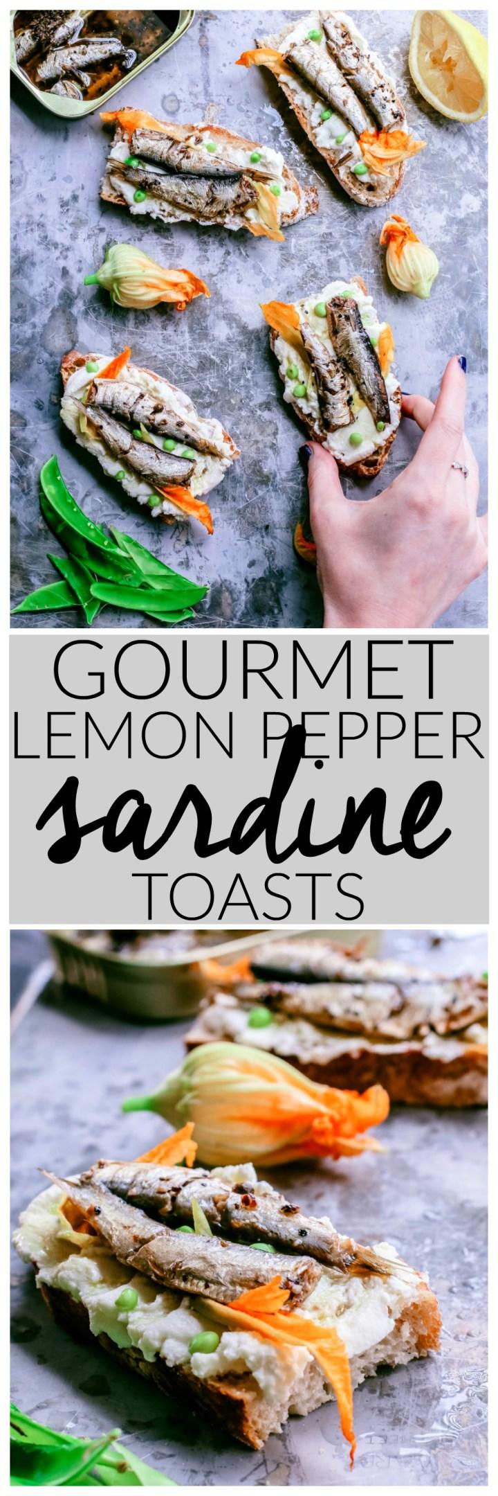 Gourmet Lemon Pepper Sardine Toasts | Killing Thyme